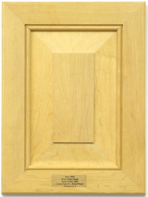 Pimlico mitered kitchen cabinet door in Maple with a raised Panel