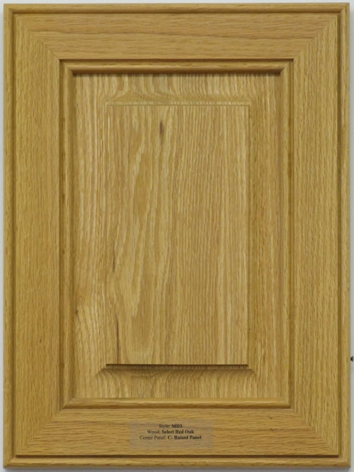 Radison Raised Panel Mitered Cabinet Door in Oak