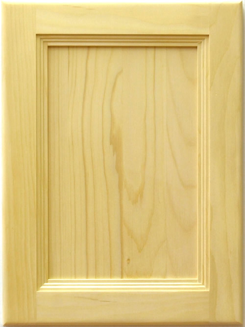 Segovia Stile and Rail Flat Panel Door with reverse raised center panel