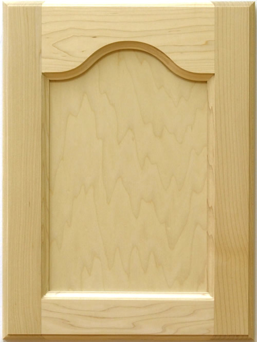 Barton Cathedral Top Cabinet Door in maple