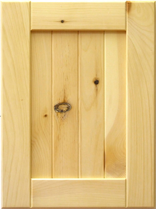 Mission Cabinet Door in Knotty Pine