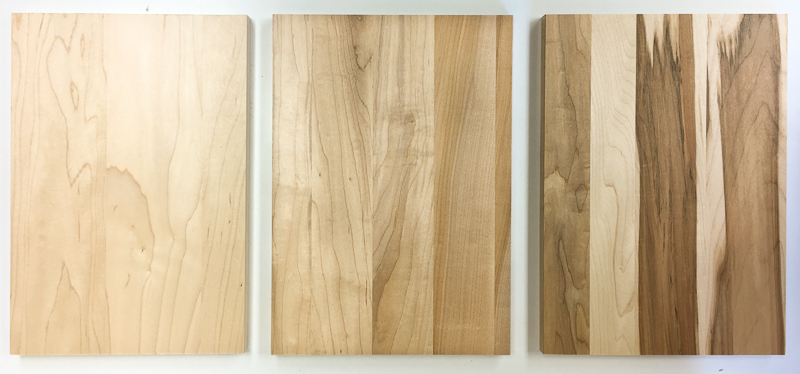 Three grades of Maple