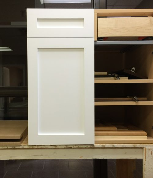 "A shaker style cabinet door retrofit to an Akurum 30"" base cabinet."