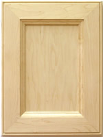 Fergus mitered kitchen cabinet door in Maple