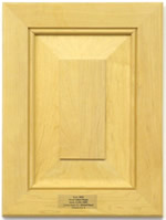 Pimlico mitered kitchen cabinet door with raised panel in Maple