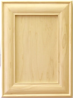 Marisa mitered kitchen cabinet door in Maple