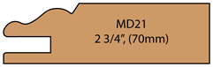 Allstyle Cabinet Doors: Miter Profile MD21(70mm)