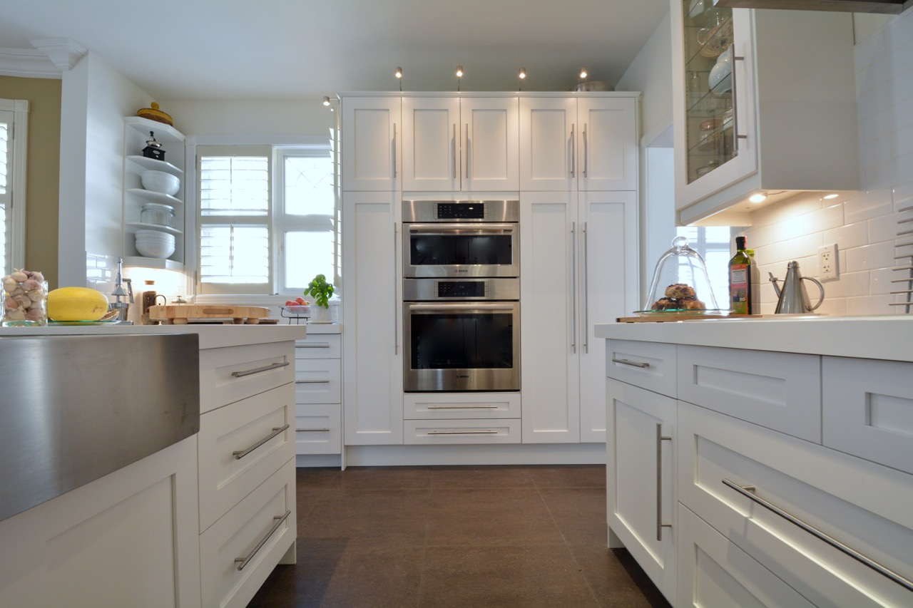 Painted white shaker kitchen doors for IKEA