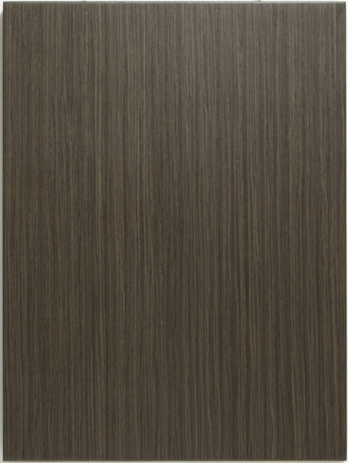 Allstyle's Recon veneer Charcoal Ash AC3004 cabinet door shown in vertical grain