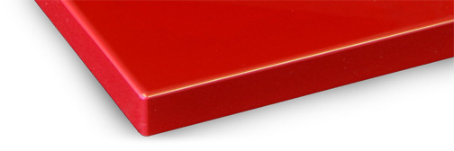 Colour matched edgebanding fused to the door with a laser edgebander provides an invisible edge