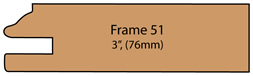 "Allstyle Cabinet Doors: Profile 51 - 3"" (76mm)"