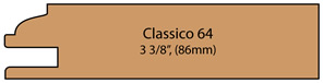 Allstyle Cabinet Doors : Profile 64 at 86mm, 3 3/8""